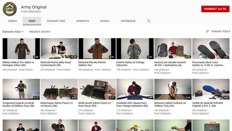 armyoriginal youtube kanal